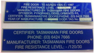 Fire Door Tag
